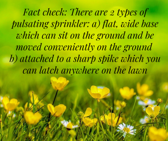 Types of sprinkler
